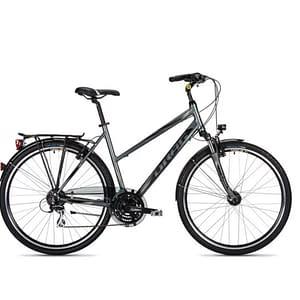 Trekking bike in grey