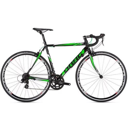 Road bike in green